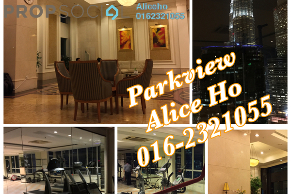 For Rent Condominium at Park View, KLCC Freehold Fully Furnished 1R/1B 2.9k