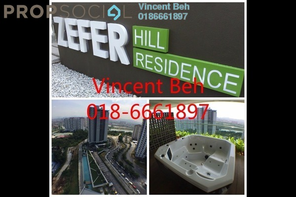 For Sale Condominium at Zefer Hill Residence, Bandar Puchong Jaya Freehold Unfurnished 4R/3B 585k