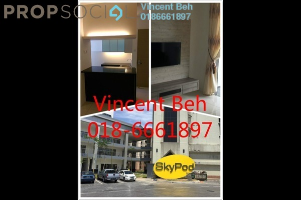 For Sale Condominium at Skypod, Bandar Puchong Jaya Freehold Semi Furnished 2R/2B 535k