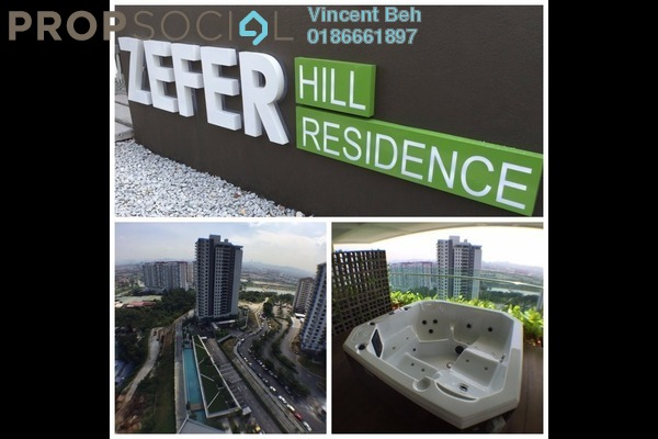 For Sale Condominium at Zefer Hill Residence, Bandar Puchong Jaya Freehold Semi Furnished 4R/3B 600k