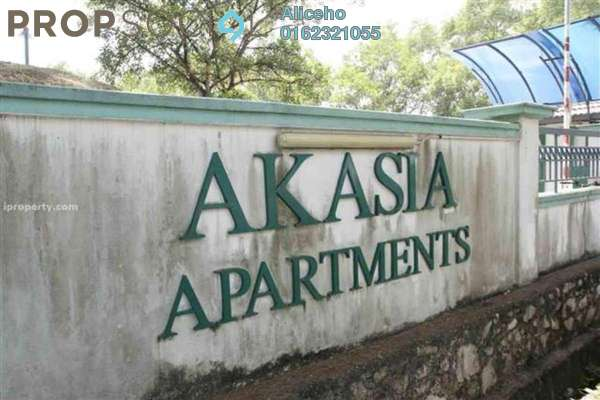 For Rent Apartment at Akasia Apartment, Pusat Bandar Puchong Freehold Semi Furnished 3R/2B 1.1k