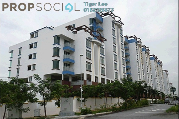 For Rent Apartment at Bukit Segambut, Segambut Freehold Semi Furnished 3R/2B 1.2k