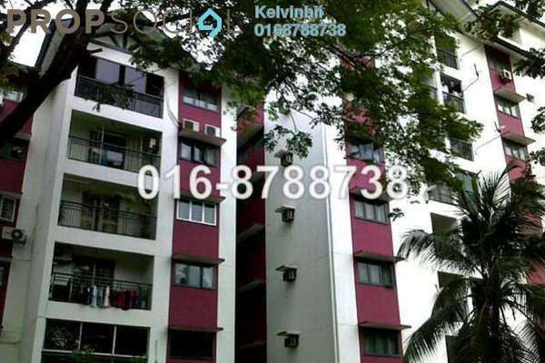 For Rent Condominium at Fortuna Court, Old Klang Road Freehold Fully Furnished 3R/2B 1.8k