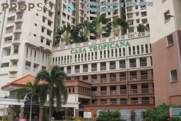 For Rent Condominium at Casa Tropicana, Tropicana Leasehold Semi Furnished 2R/2B 2.5k
