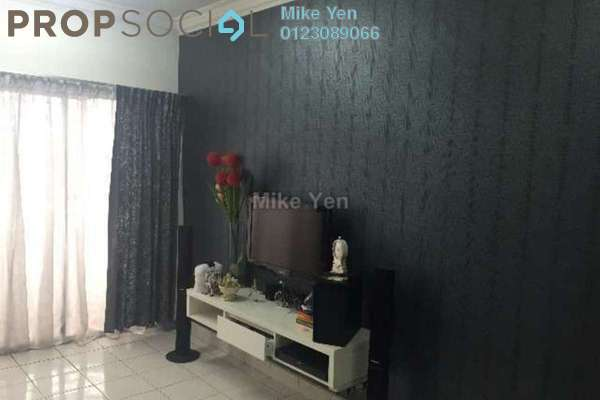 For Rent Apartment at Taman Sri Sinar, Segambut Freehold Semi Furnished 3R/2B 1.2k