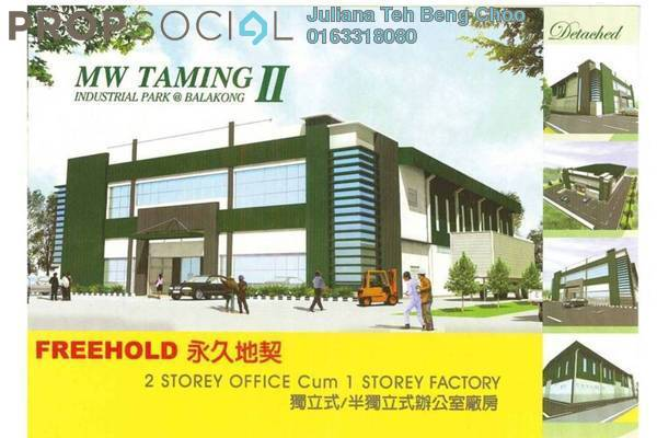 For Sale Factory at Taming Jaya Industrial Park, Balakong Freehold Unfurnished 0R/0B 3.8百万
