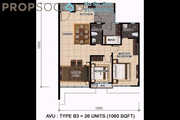 For Sale Condominium at D'Suria Condominium, Ampang Leasehold Unfurnished 3R/2B 628k