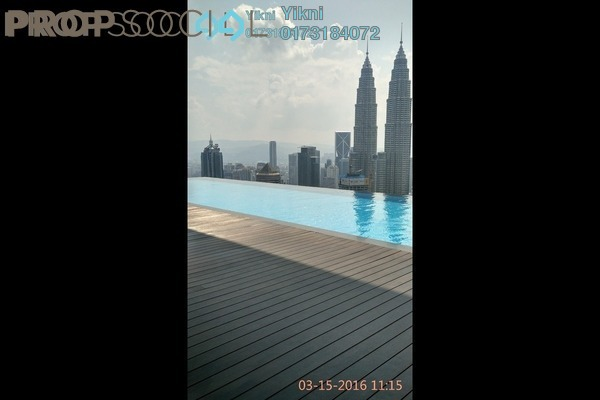 For Rent Condominium at Platinum Suites, KLCC Freehold Fully Furnished 1R/1B 3.5k