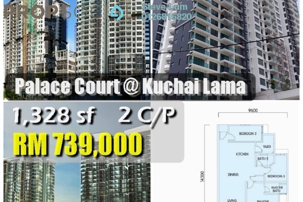 For Sale Condominium at Taman Kuchai Jaya, Kuchai Lama Leasehold Unfurnished 3R/2B 750.0千