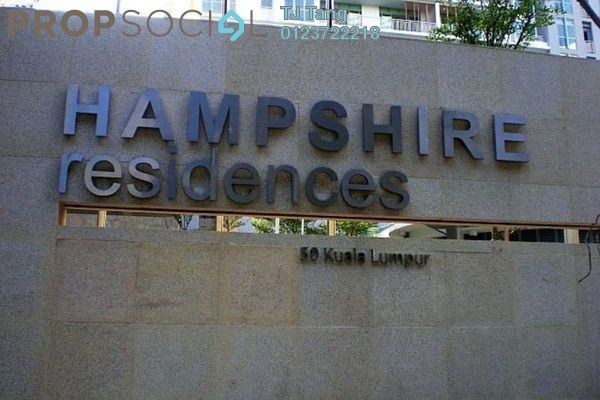 For Sale Condominium at Hampshire Residences, KLCC Freehold Fully Furnished 1R/1B 960.0千