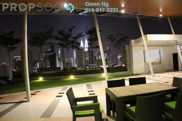 For Rent Condominium at Gallery U-Thant, Ampang Hilir Freehold Semi Furnished 4R/4B 13k