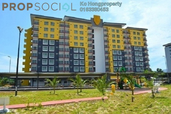 For Rent Apartment at Suria Residence, Bukit Jelutong Freehold Unfurnished 3R/2B 1k