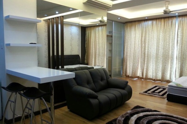 For Rent SoHo/Studio at Regalia @ Jalan Sultan Ismail, Kuala Lumpur Freehold Fully Furnished 0R/1B 1.8k