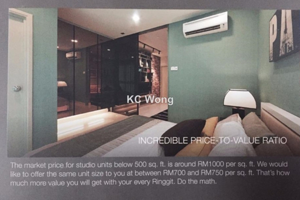 For Sale SoHo/Studio at Liberty Arc @ Ampang Ukay, Ukay Freehold Fully Furnished 0R/1B 299k