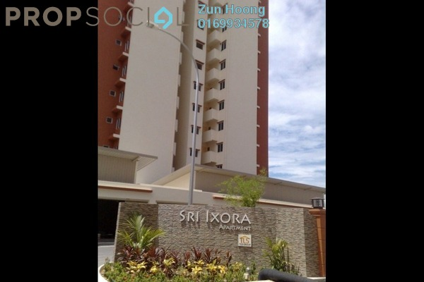 For Sale Condominium at Sri Ixora Apartment, Kajang Freehold Semi Furnished 3R/2B 300k