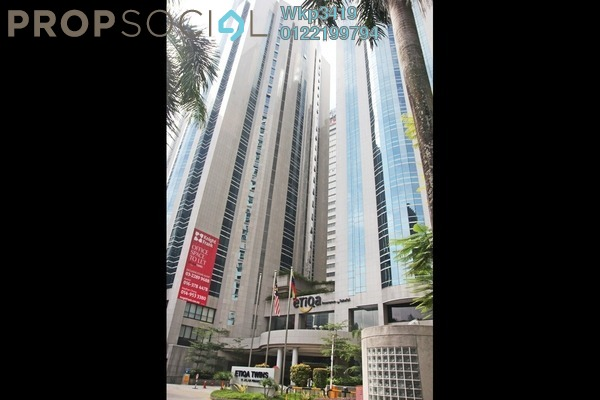 For Rent Office at Etiqa Twins, KLCC Freehold Fully Furnished 1R/1B 2.7k