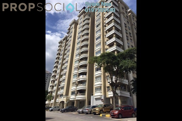 For Sale Condominium at Sri Mahligai, Shah Alam Leasehold Fully Furnished 2R/2B 390k