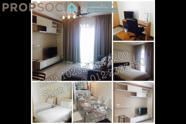 For Rent Condominium at Isola, Subang Jaya Freehold Semi Furnished 2R/2B 3k