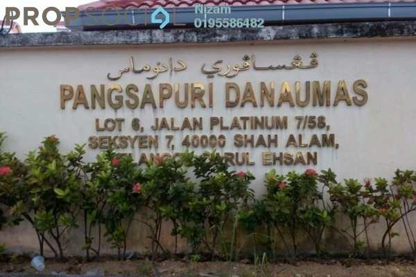 For Sale Apartment at Danaumas Apartment, Shah Alam Leasehold Unfurnished 0R/2B 350k
