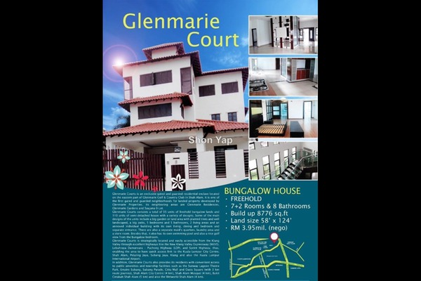 For Sale Bungalow at Glenmarie Courts, Glenmarie Freehold Fully Furnished 8R/8B 3.9m