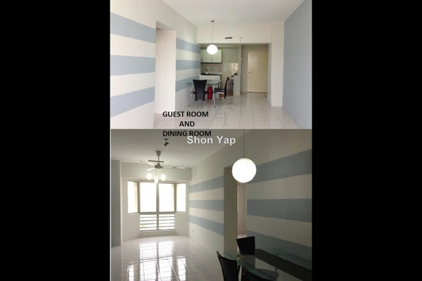 For Rent Condominium at Rhythm Avenue, UEP Subang Jaya Freehold Semi Furnished 3R/2B 1k