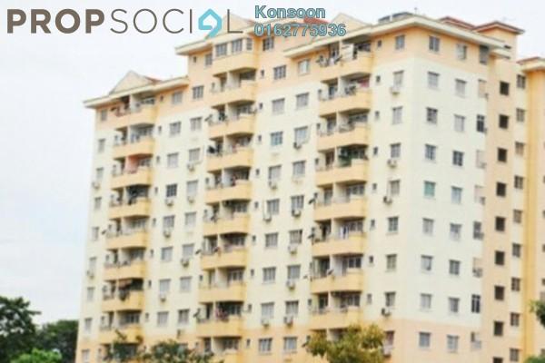 For Sale Apartment at Jati 1 Apartment, Subang Jaya Freehold Semi Furnished 3R/2B 380k