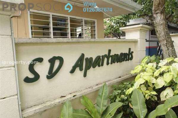 For Rent Apartment at SD Apartments, Bandar Sri Damansara Freehold Fully Furnished 3R/2B 1.2k