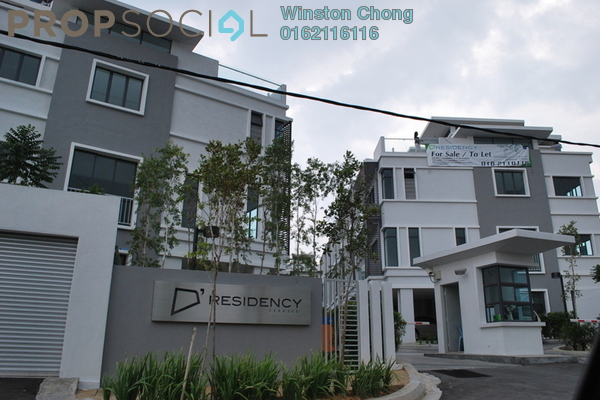For Sale Terrace at D'Residency, Bandar Utama Leasehold Semi Furnished 5R/4B 1.15m