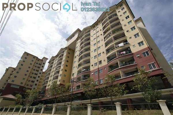 For Rent Apartment at Mandy Villa, Segambut Leasehold Unfurnished 3R/2B 1.3k
