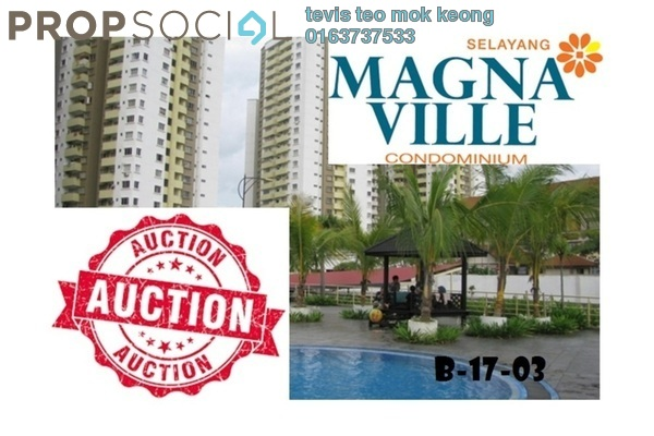 For Sale Condominium at Magna Ville, Selayang Leasehold Unfurnished 3R/2B 300k