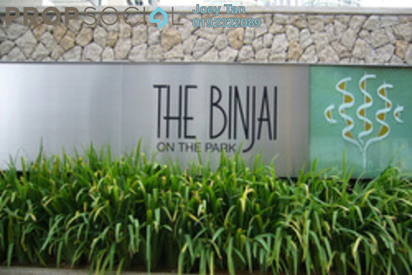 For Sale Condominium at The Binjai On The Park, KLCC Freehold Semi Furnished 3R/5B 4.95m