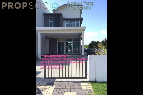 For Sale Terrace at Setia Eco Cascadia, Tebrau Freehold Unfurnished 5R/4B 780k