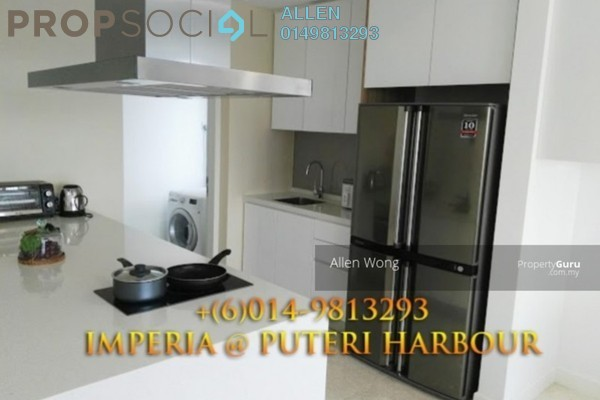 For Rent Condominium at Imperia, Puteri Harbour Freehold Fully Furnished 1R/1B 3.2k
