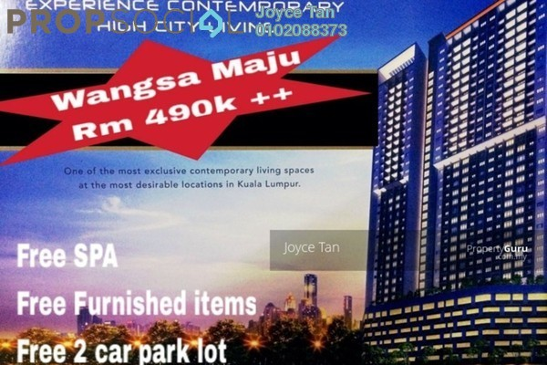 For Sale Condominium at Wangsa Metroview, Wangsa Maju Freehold Semi Furnished 3R/2B 490k