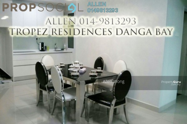 For Rent Serviced Residence at Tropez Residences, Danga Bay Freehold Fully Furnished 2R/2B 2.75k