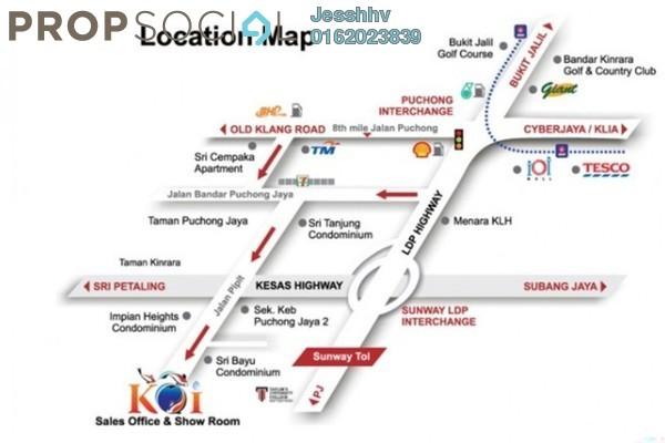 For Sale Condominium at Koi Kinrara, Bandar Puchong Jaya Freehold Semi Furnished 3R/2B 468k