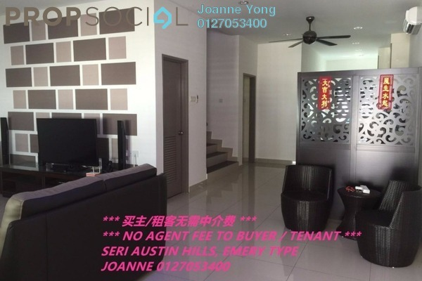 For Sale Terrace at Seri Austin, Tebrau Freehold Fully Furnished 4R/4B 650k