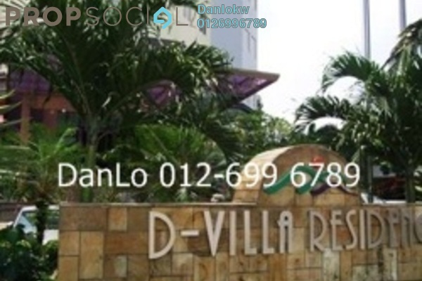 For Rent Condominium at D-Villa Residence, Ampang Hilir Freehold Fully Furnished 3R/2B 5k