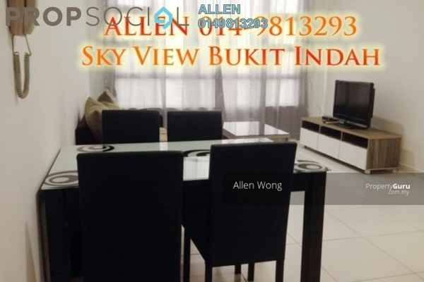 For Rent Serviced Residence at Sky View, Bukit Indah Freehold Fully Furnished 1R/1B 1.5k