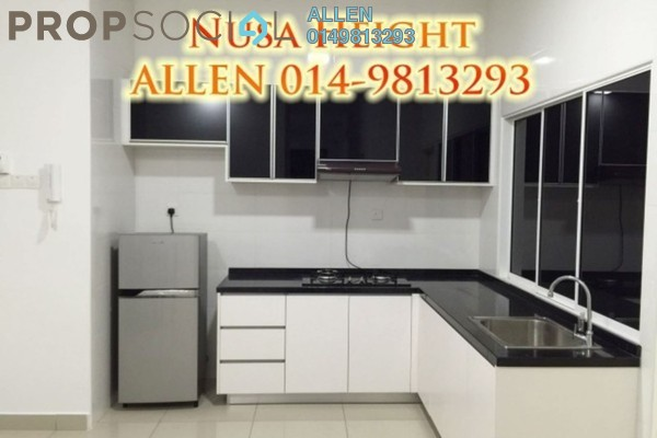 For Rent Condominium at Nusa Heights, Iskandar Puteri (Nusajaya) Freehold Fully Furnished 3R/2B 1.5k