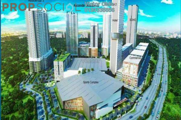 For Sale Condominium at Ascenda Residence @ SkyArena, Setapak Leasehold Unfurnished 3R/2B 530k