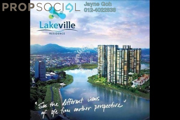 For Sale Serviced Residence at Lakeville Residence, Jalan Ipoh Leasehold Semi Furnished 3R/2B 600k