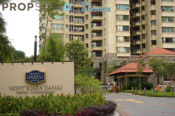 For Rent Condominium at Mont Kiara Damai, Mont Kiara Freehold Semi Furnished 3R/1B 9.5k