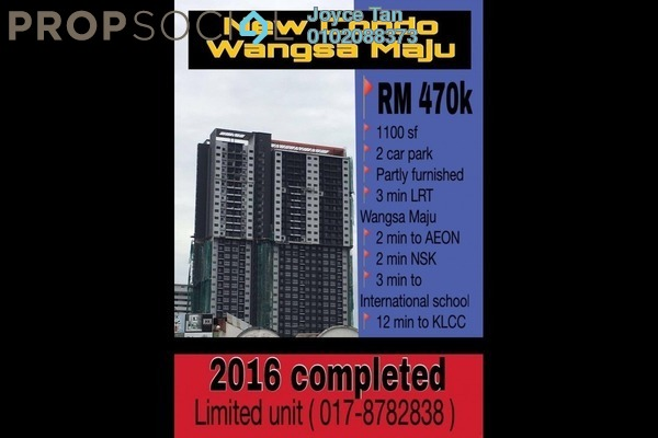 For Sale Condominium at Wangsa Metroview, Wangsa Maju Freehold Semi Furnished 3R/2B 470k