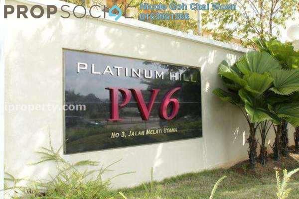 For Sale Condominium at Platinum Hill PV6, Setapak Freehold Semi Furnished 4R/2B 560k
