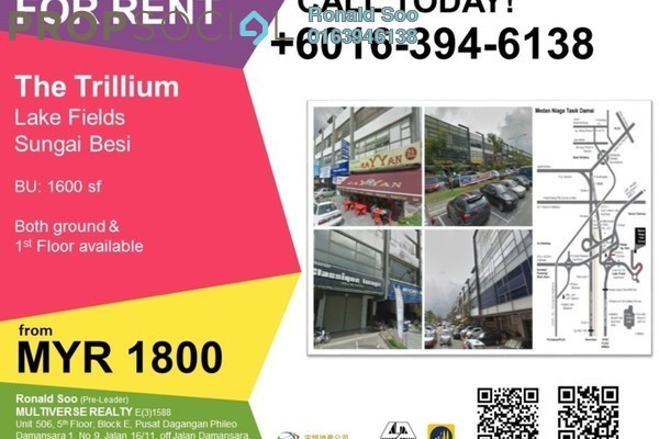For Rent Shop at The Trillium, Sungai Besi Leasehold Unfurnished 0R/0B 1.8k