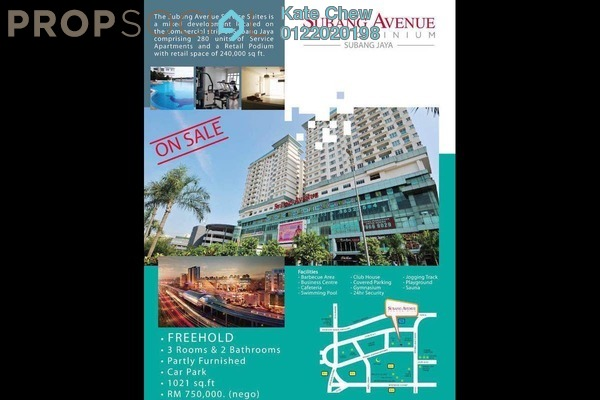 For Sale Condominium at Subang Avenue, Subang Jaya Freehold Semi Furnished 3R/2B 750.0千
