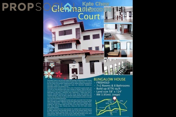 For Sale Bungalow at Glenmarie Courts, Glenmarie Freehold Unfurnished 7R/8B 3.95m