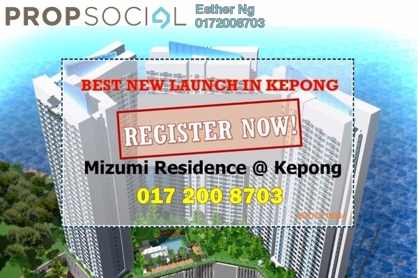 For Sale Condominium at Mizumi Residences, Kepong Leasehold Unfurnished 4R/3B 503k
