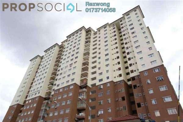 For Sale Apartment at Damai Mewah B Apartment, Kajang Freehold Semi Furnished 3R/2B 190k